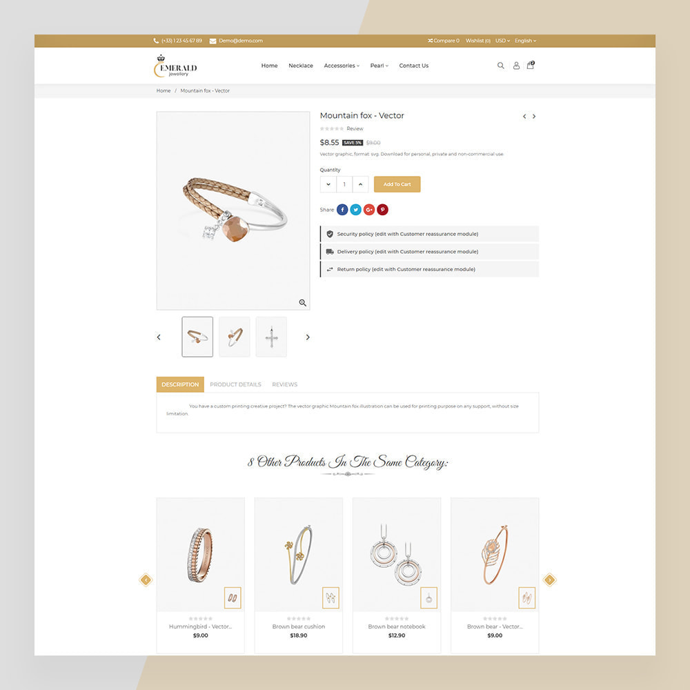 theme - Schmuck & Accesoires - Emerald Jewelry - Jewellery & Accessories Template - 3