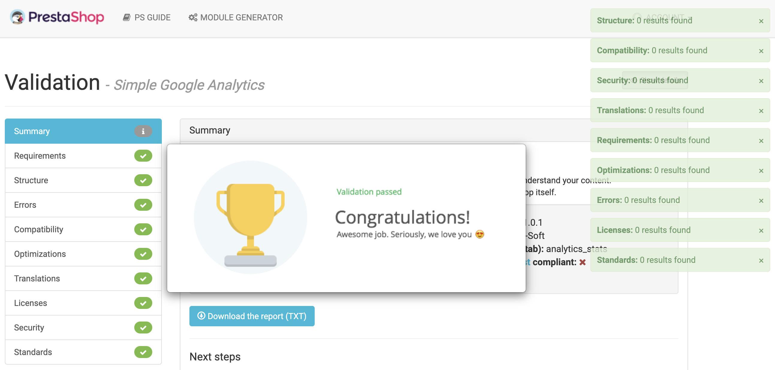 module - Analytics & Statistics - Simple Google Analytics Online - 7