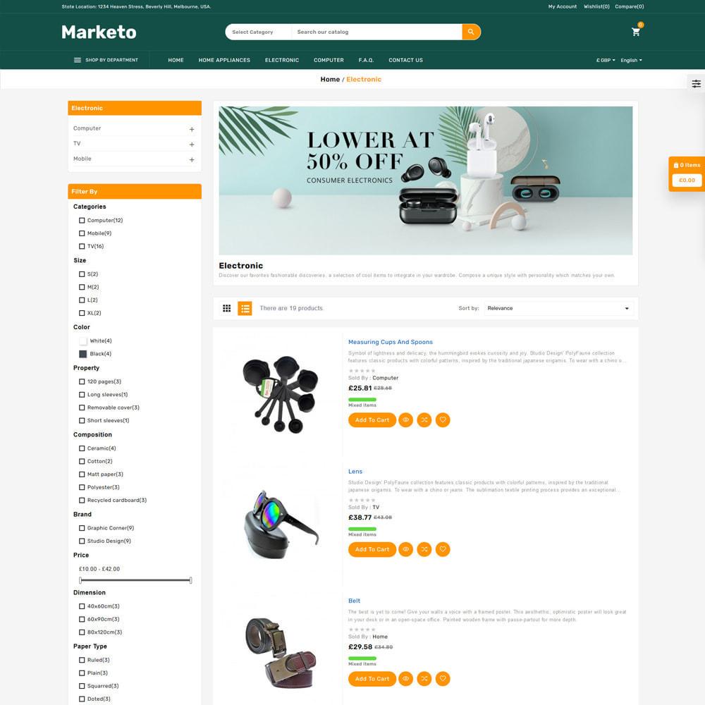 theme - Electronique & High Tech - Marketo Mega Store - 4