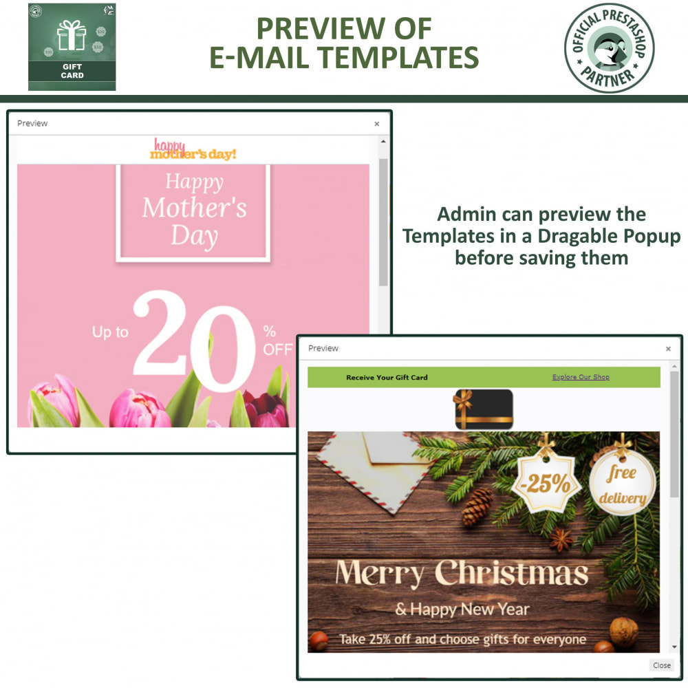 module - Lista de desejos & Vale-presente - Gift Card Module - Gift Card Certificates & Vouchers - 16