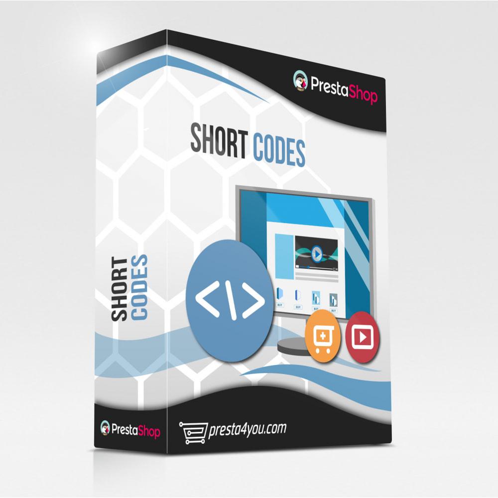 module - Video's & Muziek - Advanced Shortcode / Products / Youtube / CMS - 1