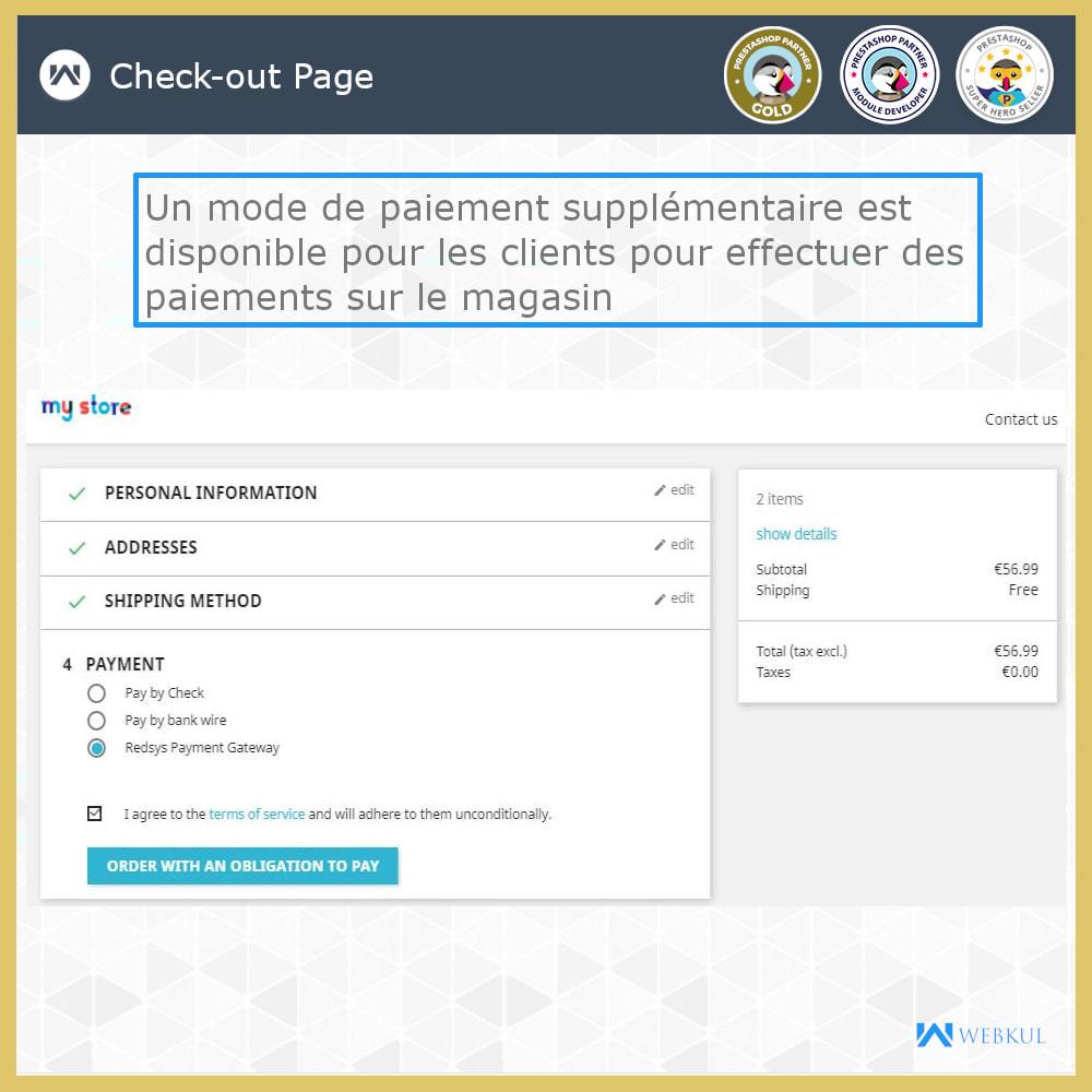 module - Paiement par Carte ou Wallet - Passerelle de paiement Redsys - 1