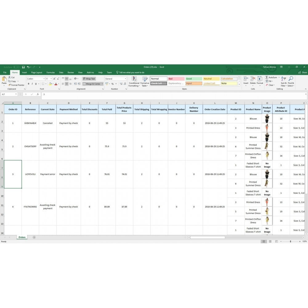module - Importação & exportação de dados - Exportação de Pedidos Pro (Excel, CSV, XML, PDF) - 7