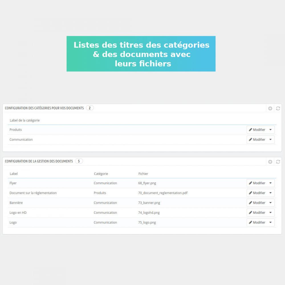 module - Gestion des clients - Gestion de documents privés - 2