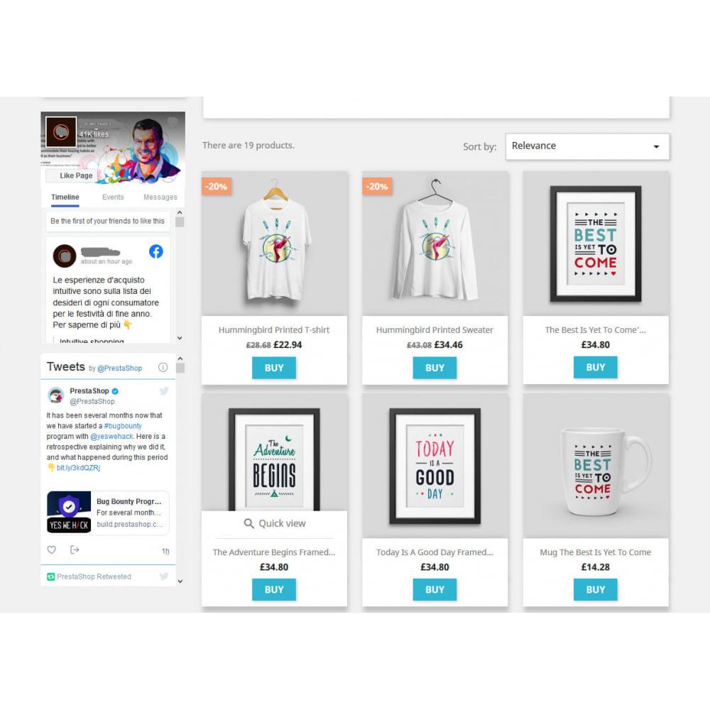 module - Widgety serwisów społecznościowych - Social Wall Feeds | Posts & Tweets - 1