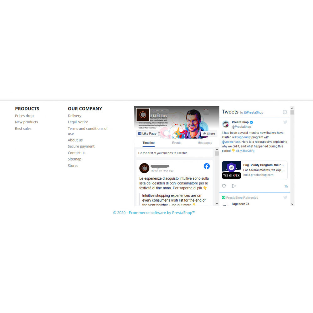 module - Widgety serwisów społecznościowych - Social Wall Feeds | Posts & Tweets - 2