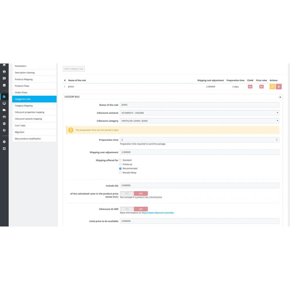 module - Торговая площадка - Cdiscount - Synchronization to the marketplace - 8