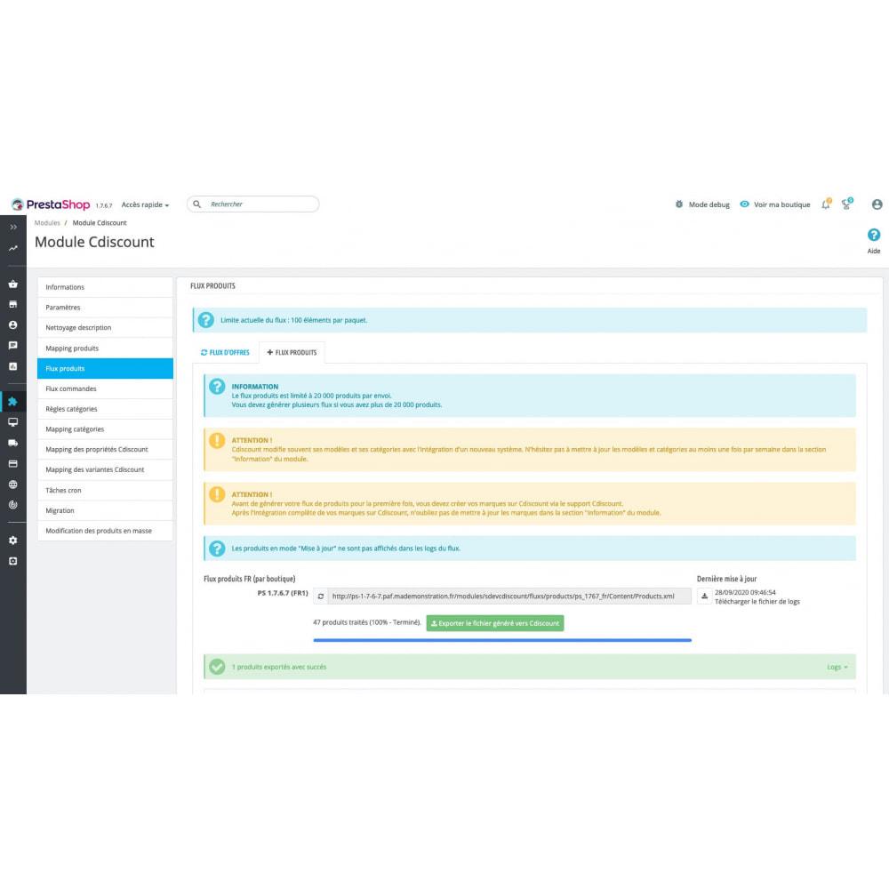 module - Marketplaces - Cdiscount - Synchronisation à la marketplace - 11