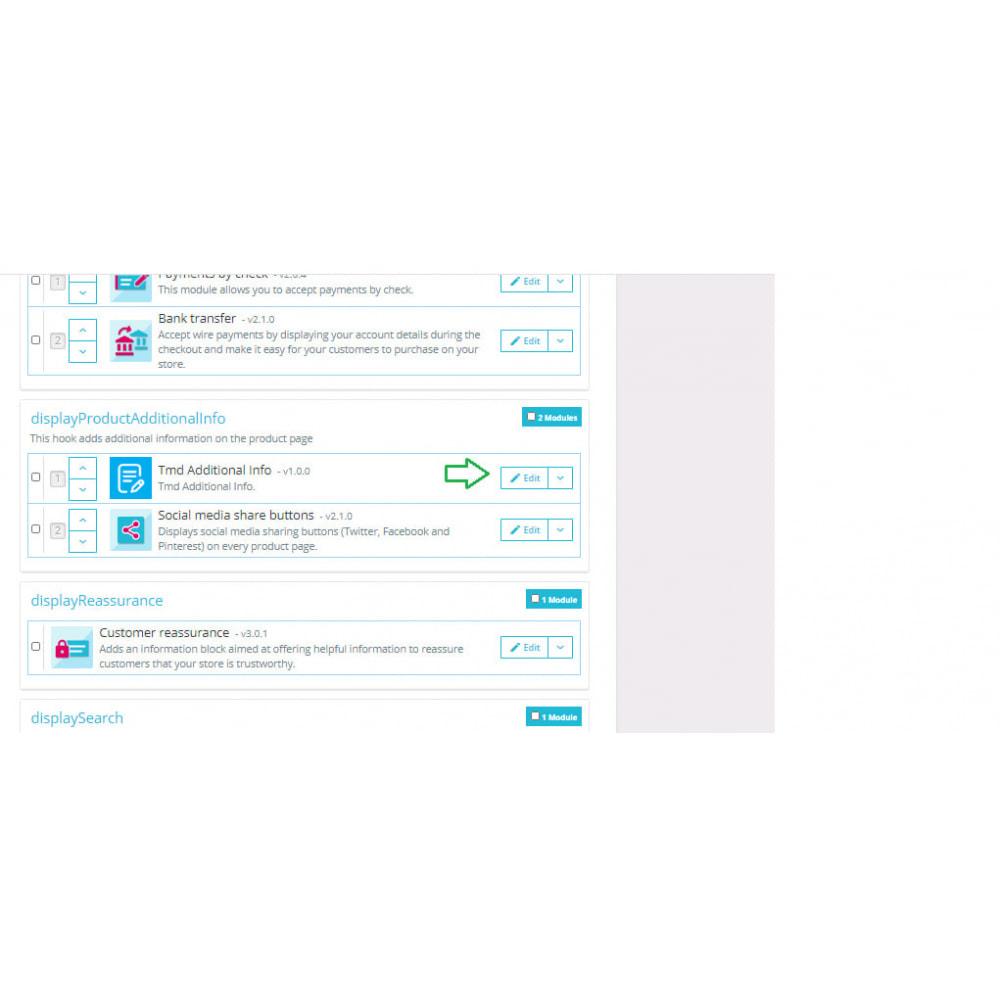 module - Dodatkowe informacje & Zakładka produktu - Additional Product Info Fields - 16