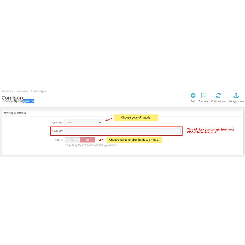 module - Соединение с внешней программой (CRM, ERP...) - CDON Marketplace Integration - 2