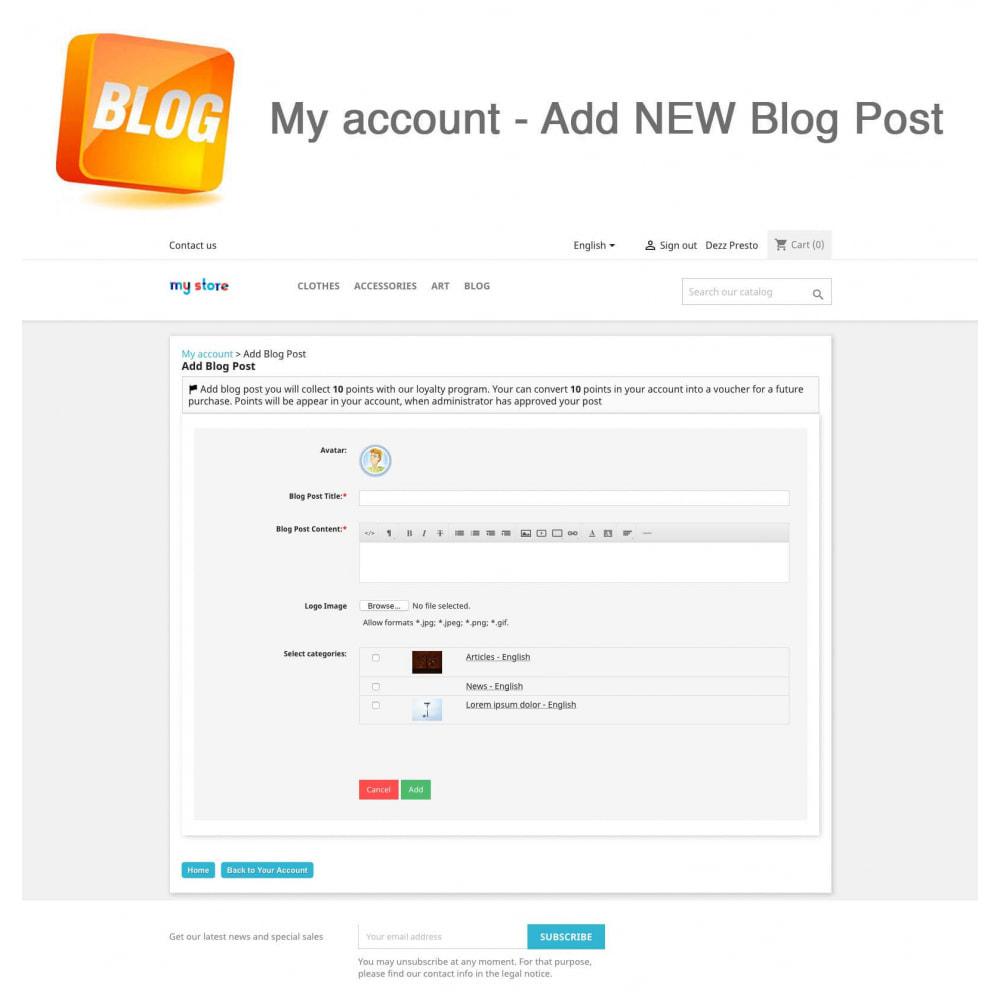 module - Блог, форумов и новостей - Blog PRO + Loyalty Program - 10