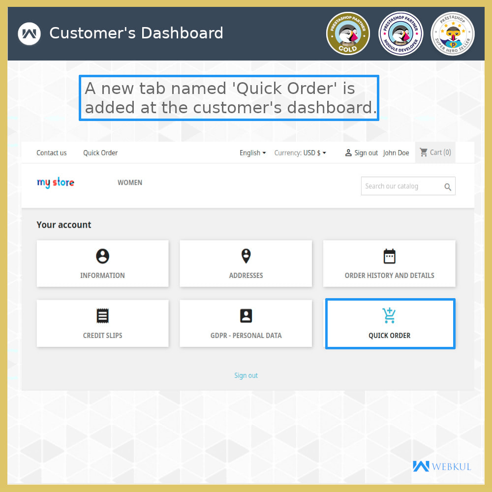 module - Anmeldung und Bestellvorgang - Quick Order | Fast Checkout - Order with Ease - 4
