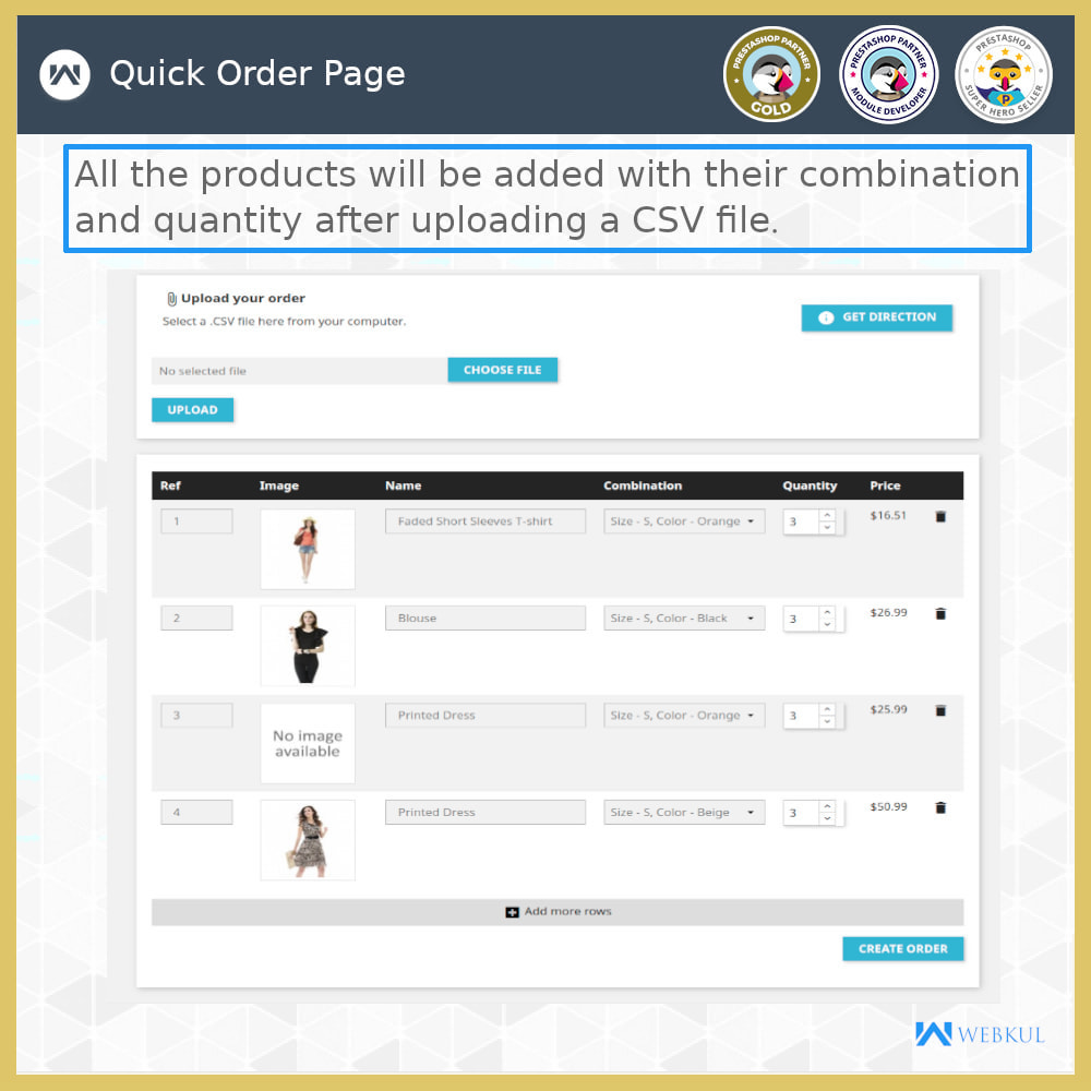 module - Anmeldung und Bestellvorgang - Quick Order | Fast Checkout - Order with Ease - 7