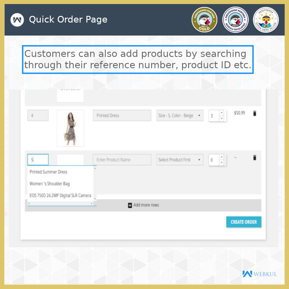 module - Anmeldung und Bestellvorgang - Quick Order | Fast Checkout - Order with Ease - 8