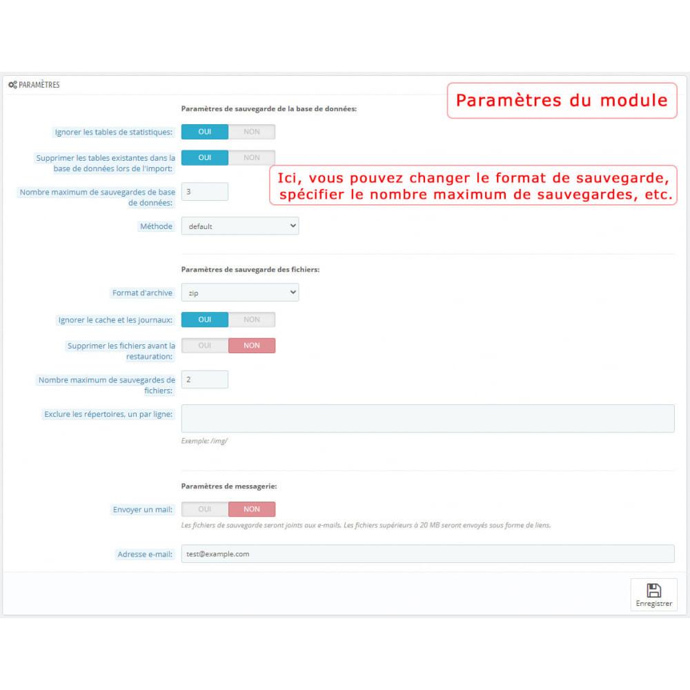 module - Migration de Données & Sauvegarde - PrestaBackup PRO (+ Google Drive) - 2