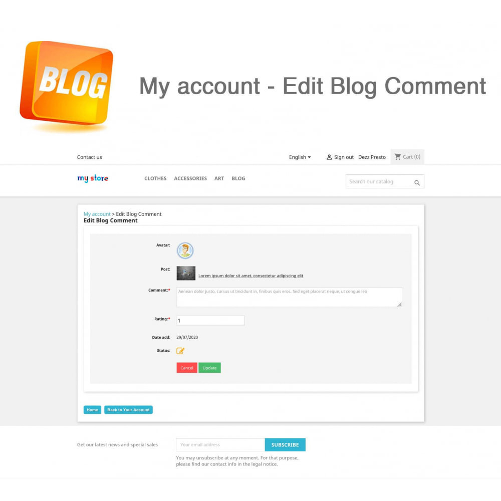 module - Блог, форумов и новостей - Blog PRO + Loyalty Program - 13
