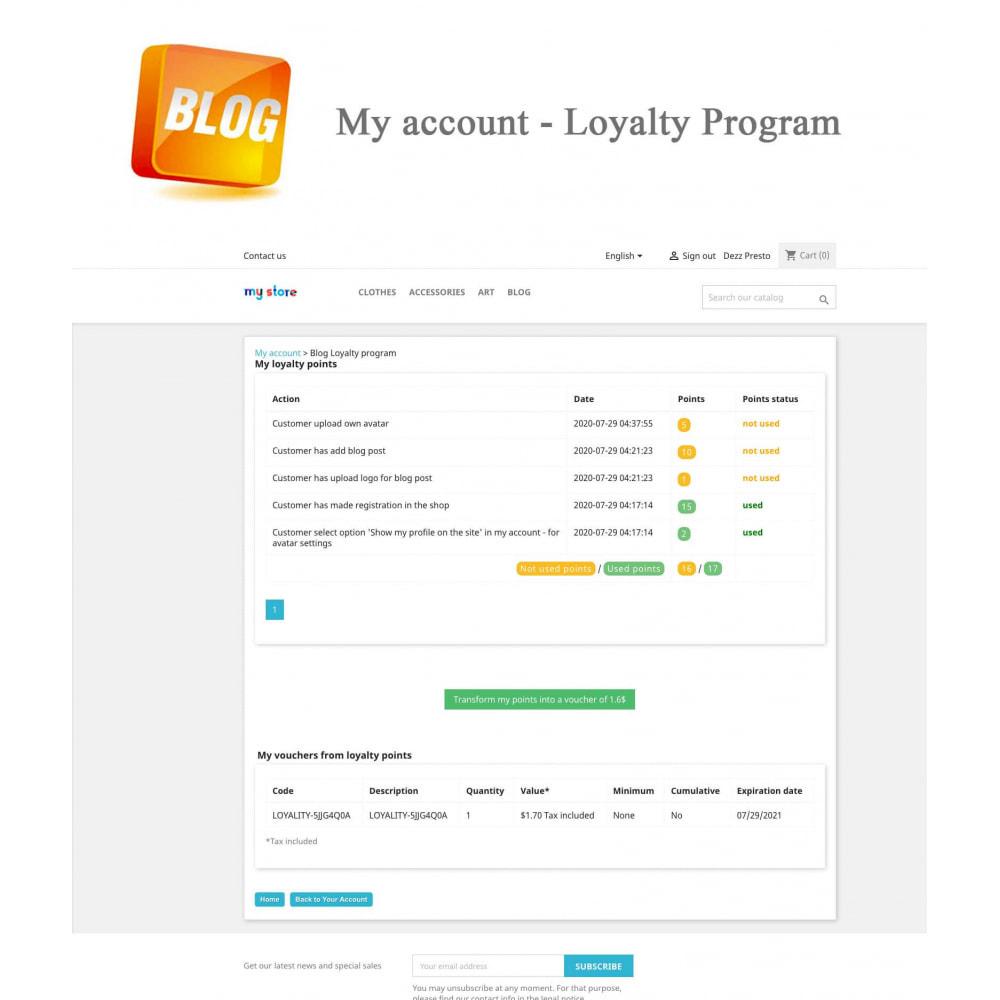 module - Блог, форумов и новостей - Blog PRO + Loyalty Program - 15