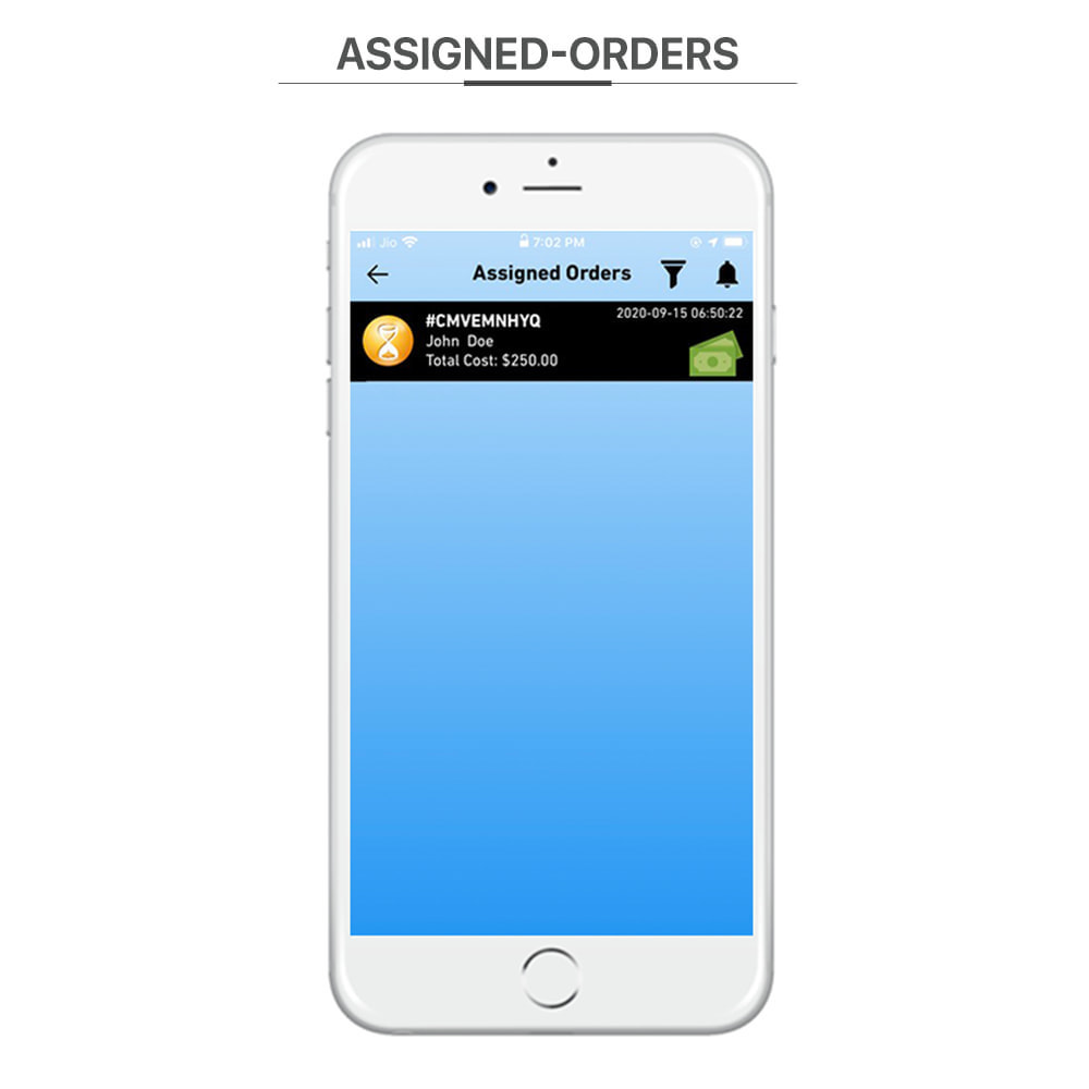 module - Data de entrega - Knowband - Delivery Boy Mobile App for iOS & Android - 4