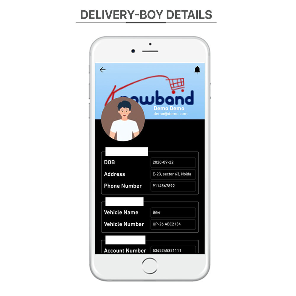 module - Data de entrega - Knowband - Delivery Boy Mobile App for iOS & Android - 10