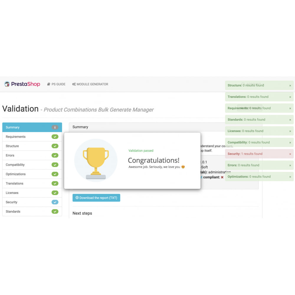module - Combinations & Product Customization - Product Combinations Bulk Generate Manager - 7