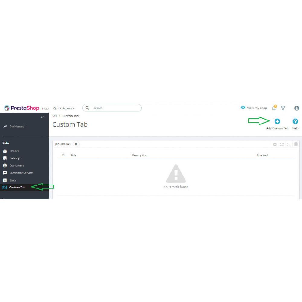 module - Bloki, Zakładki & Banery - Custom Tabs Pro - 7