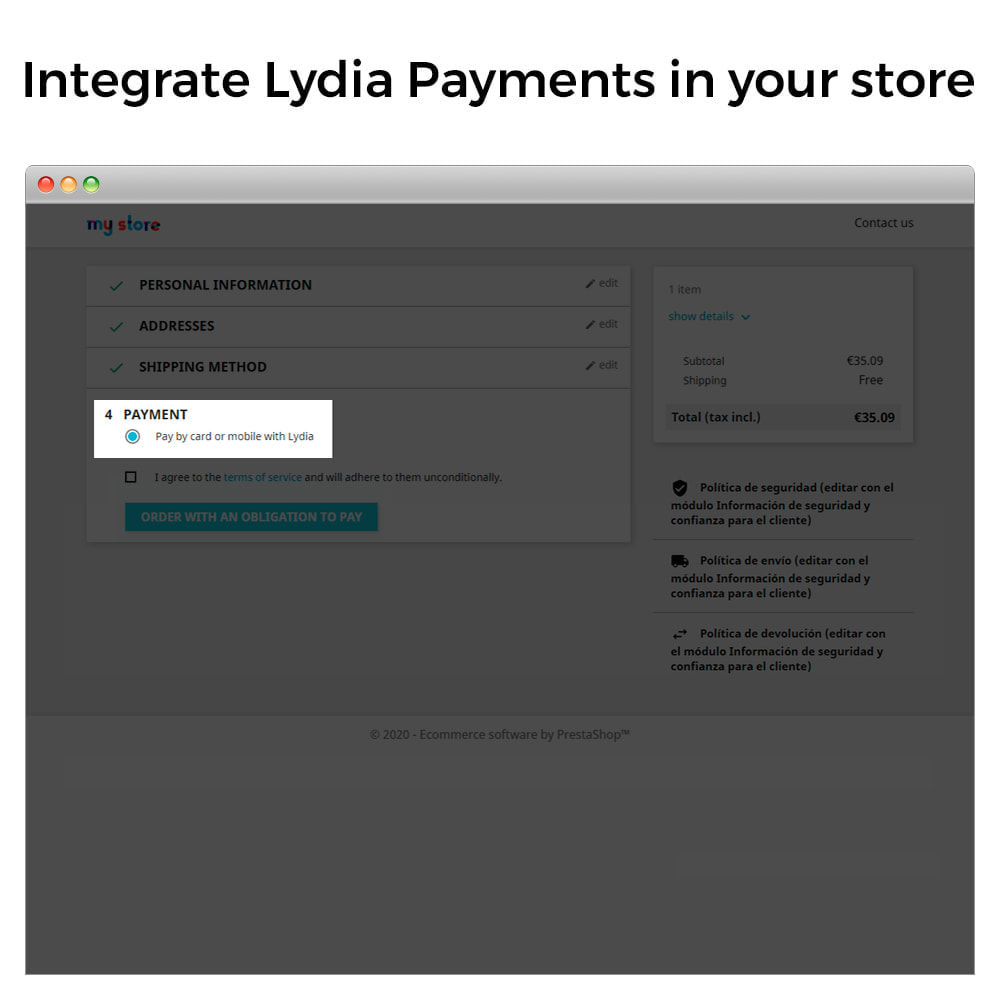 module - Pago - Lydia Pro - Instant Global Payment Solution - 2