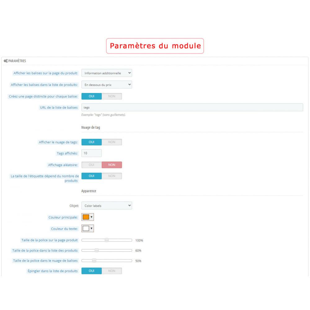 module - Etiquettes & Logos - Bloc mots-clés amélioré - 9