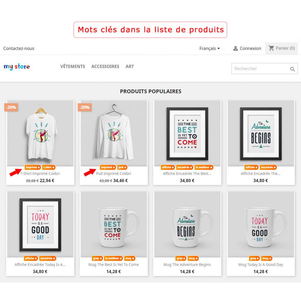 module - Etiquettes & Logos - Bloc mots-clés amélioré - 1