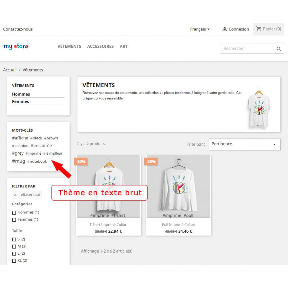 module - Etiquettes & Logos - Bloc mots-clés amélioré - 7