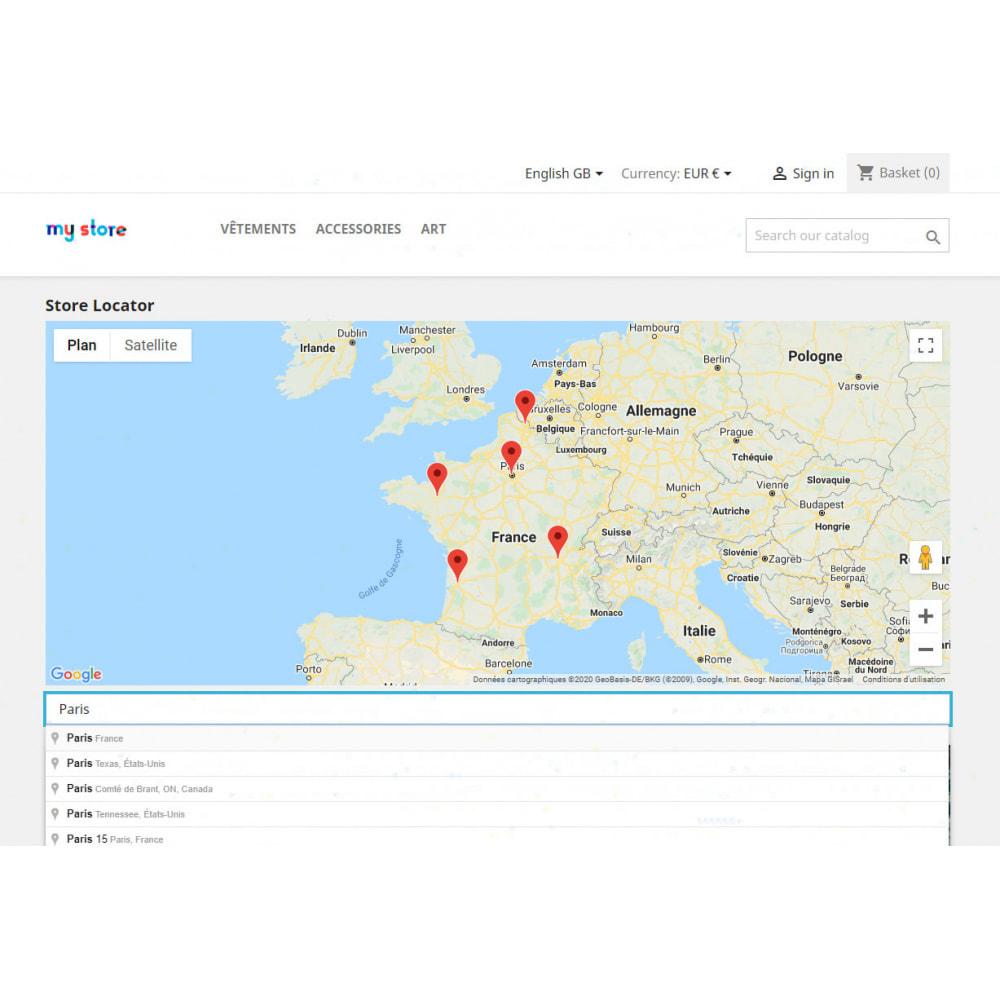module - International & Localization - Stores locator with Google Maps - 1