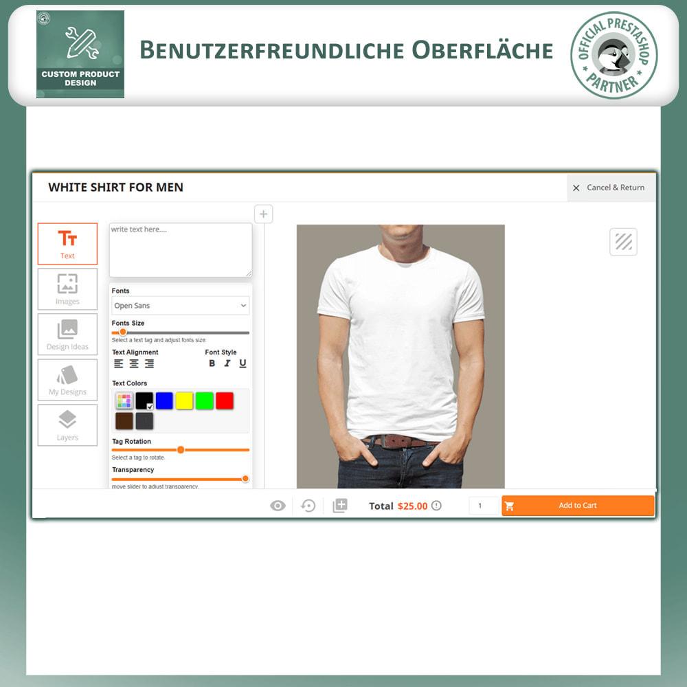 module - Bundels & Personalisierung - Benutzerdefinierter Produktdesigner, Produktanpassung - 2