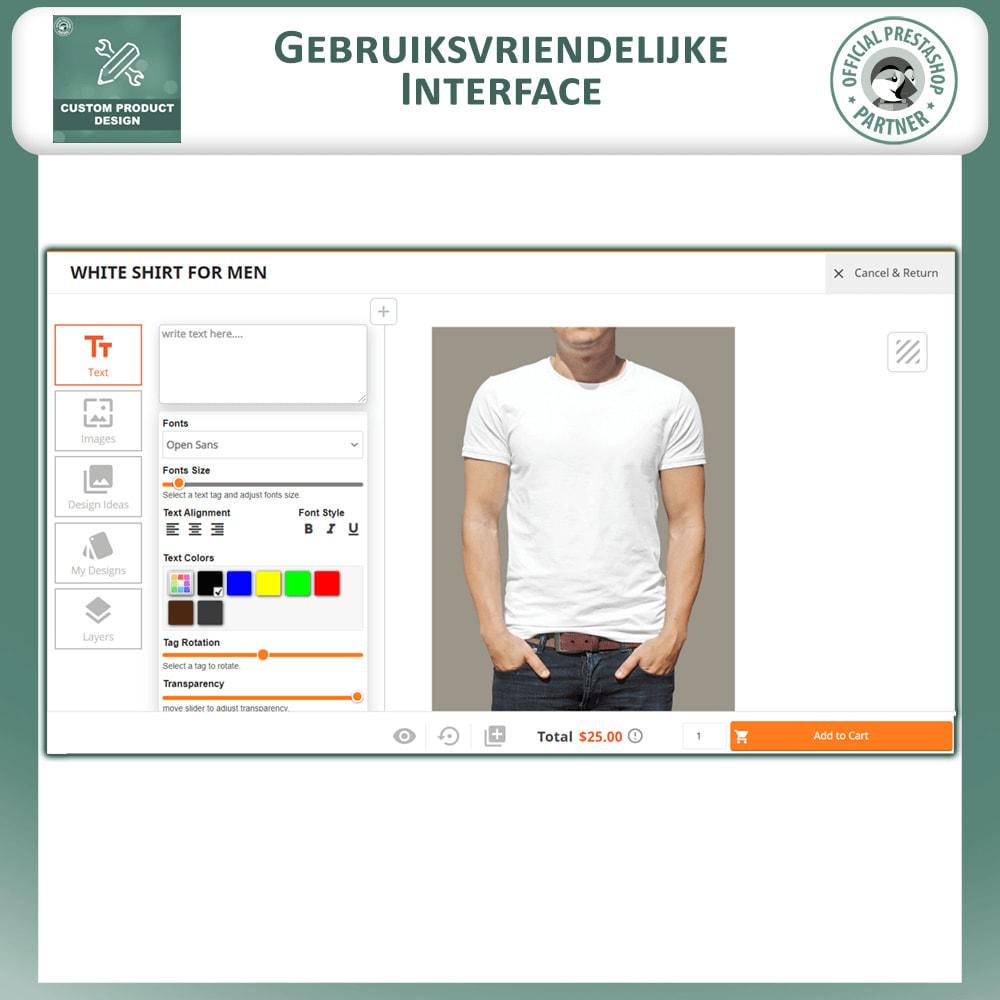 module - Versies & Personalisering van producten - Maatwerk Product Ontwerper, Product Aanpassingen - 2