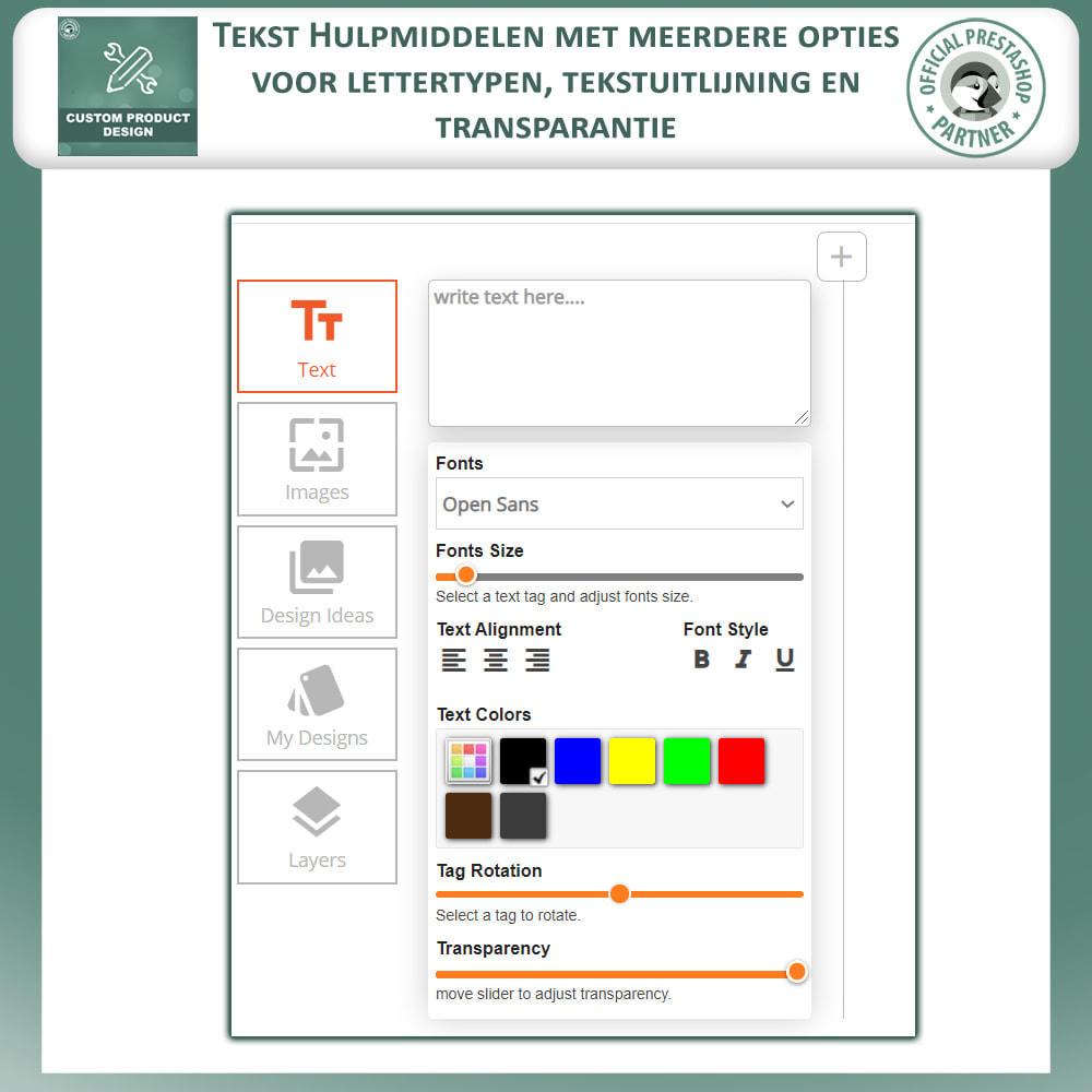 module - Versies & Personalisering van producten - Maatwerk Product Ontwerper, Product Aanpassingen - 3
