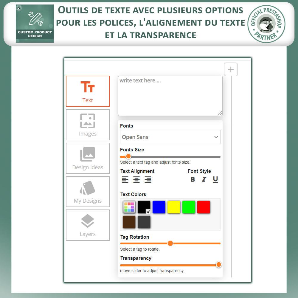 module - Déclinaisons & Personnalisation de produits - Concepteur de produits personnalisés - 3