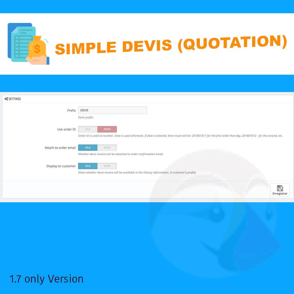 module - Offertes - Simple Devis - 2