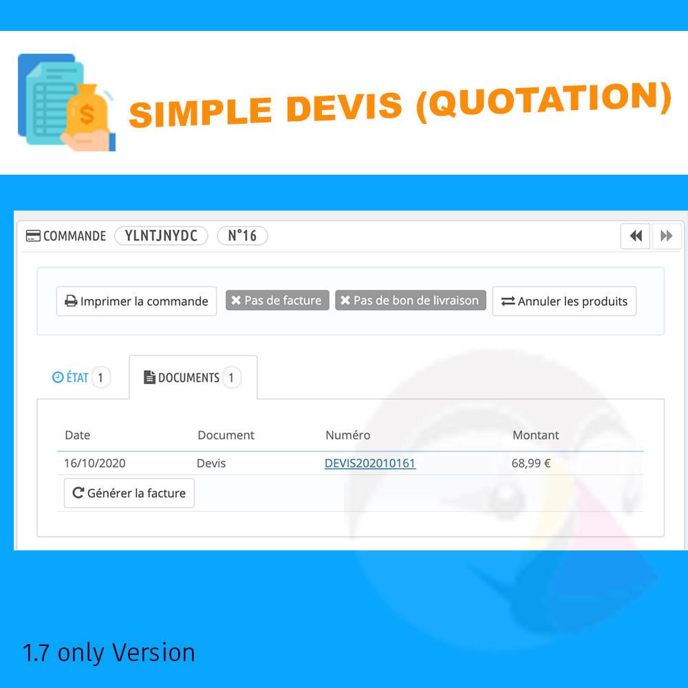 module - Offertes - Simple Devis - 3