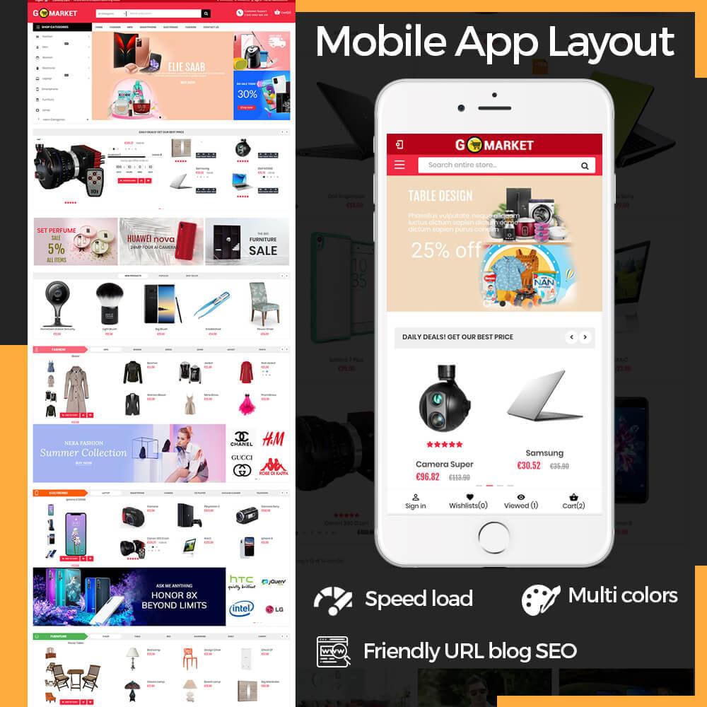 theme - Electronics & Computers - Supermarket & Mobile App Layout - 1