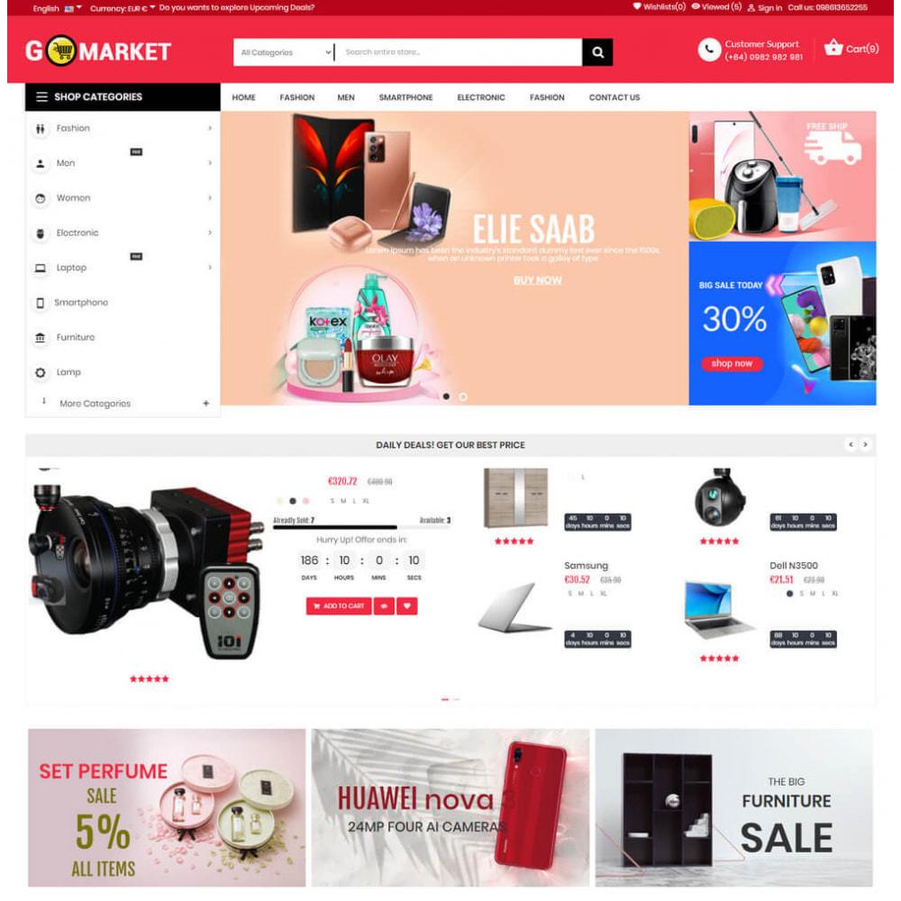 theme - Electronics & Computers - Supermarket & Mobile App Layout - 2