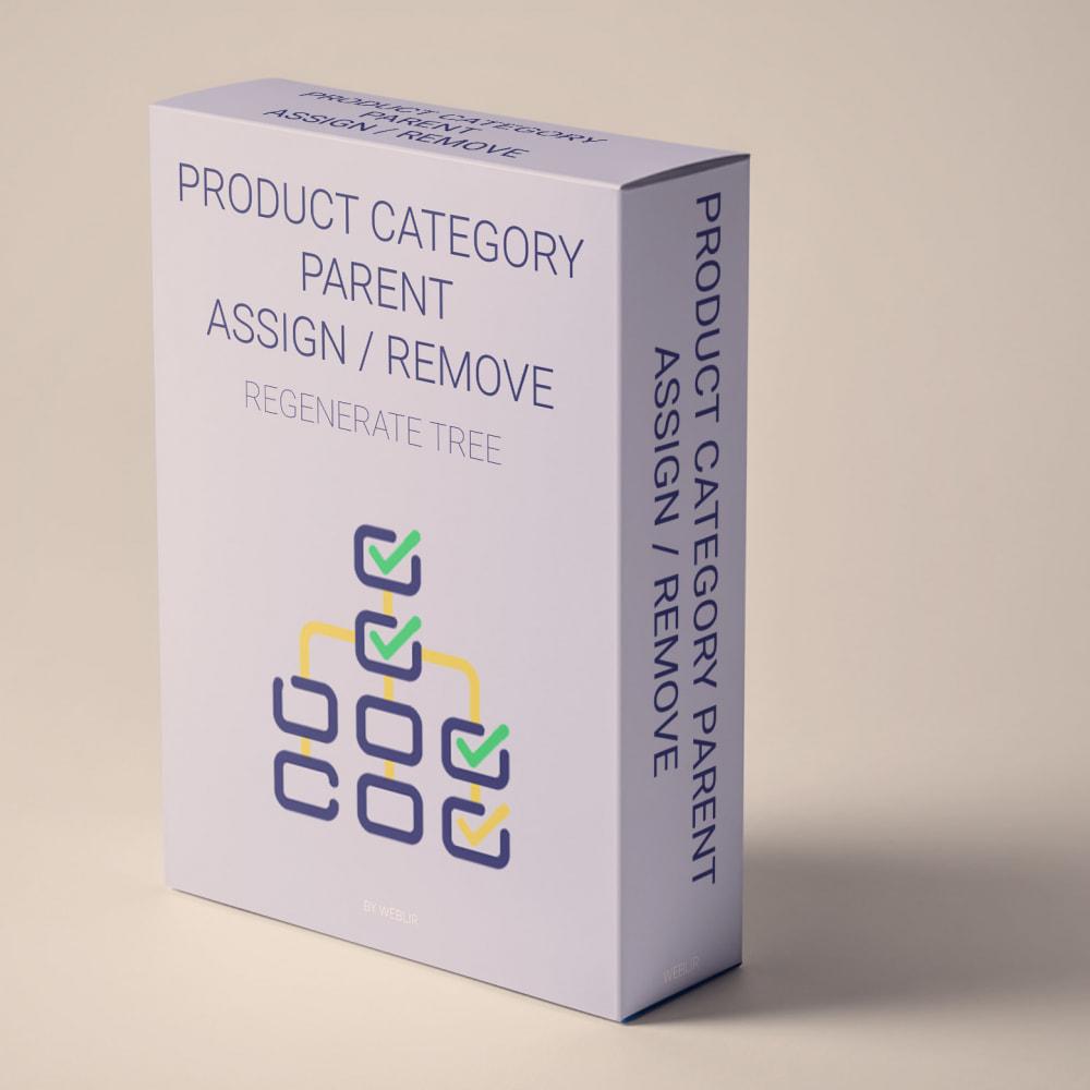 module - Edition rapide & Edition de masse - Product category parent assign, remove or tree regen - 1