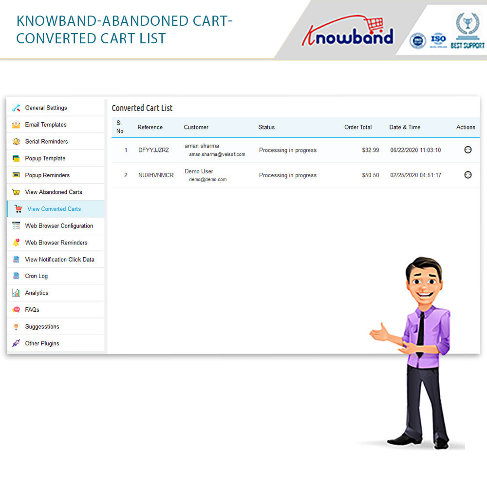 module - Remarketing & Shopping Cart Abandonment - Knowband - Abandoned Cart Serial Reminders - 14