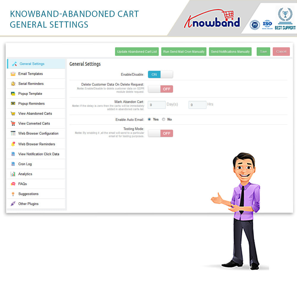 module - Remarketing & Shopping Cart Abandonment - Knowband - Abandoned Cart Serial Reminders - 15