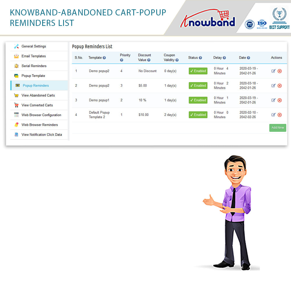 module - Remarketing & Shopping Cart Abandonment - Knowband - Abandoned Cart Serial Reminders - 18