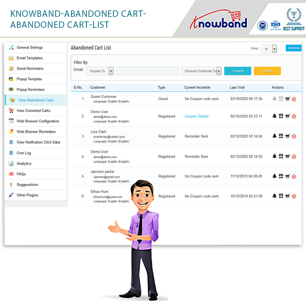 module - Remarketing & Shopping Cart Abandonment - Knowband - Abandoned Cart Serial Reminders - 20