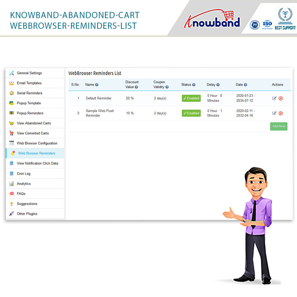 module - Remarketing & Shopping Cart Abandonment - Knowband - Abandoned Cart Serial Reminders - 22