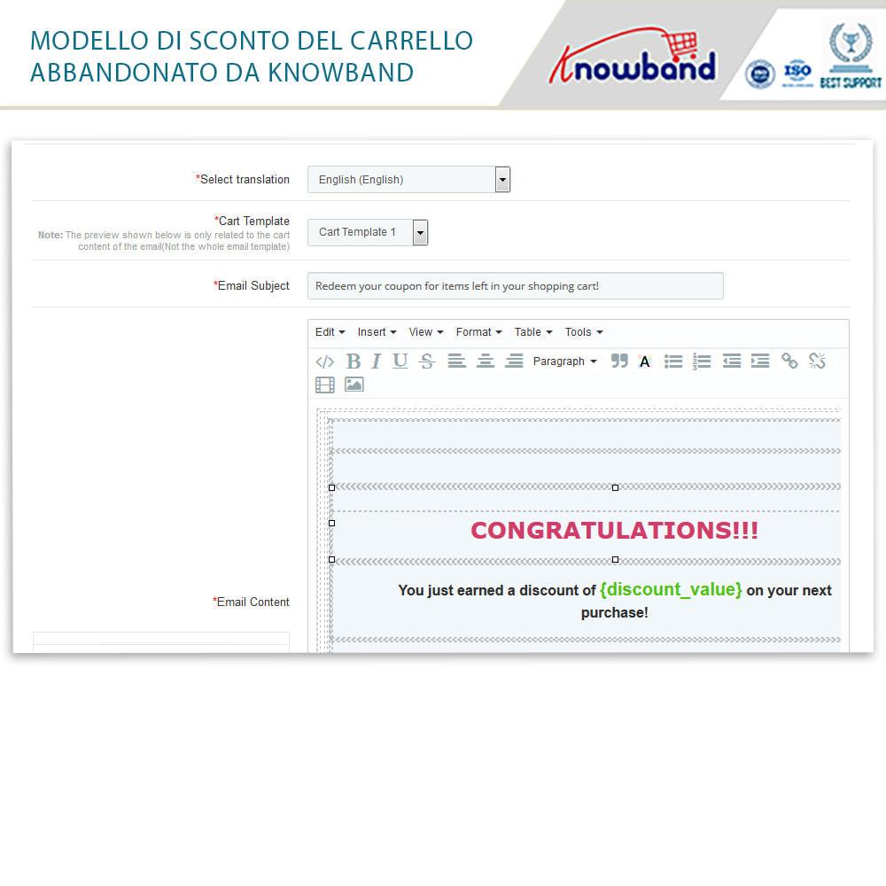 module - Remarketing & Carrelli abbandonati - Knowband-Reminder Periodici Carrello Abbandonato - 18