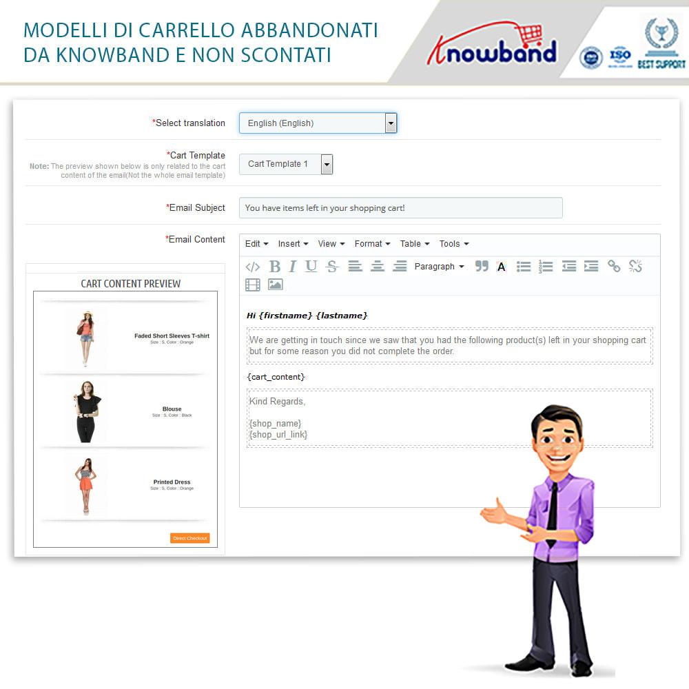 module - Remarketing & Carrelli abbandonati - Knowband-Reminder Periodici Carrello Abbandonato - 23