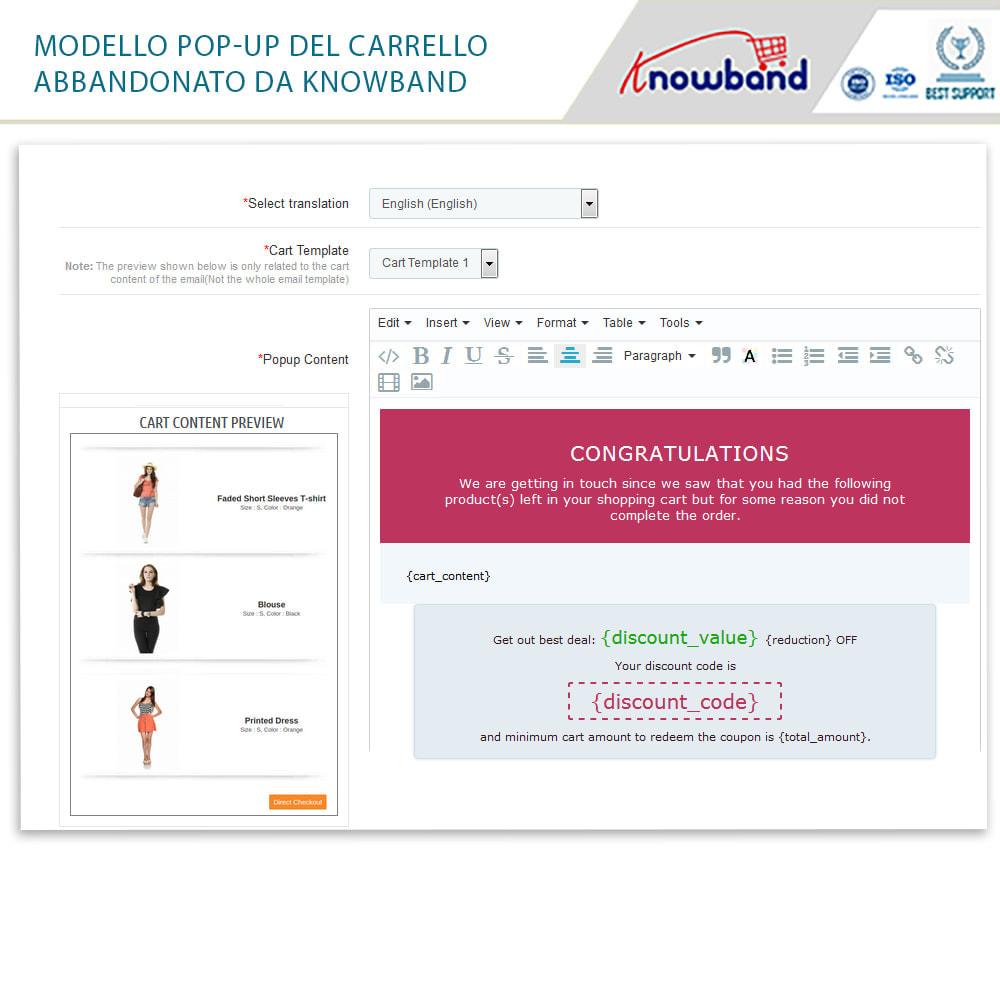 module - Remarketing & Carrelli abbandonati - Knowband-Reminder Periodici Carrello Abbandonato - 25