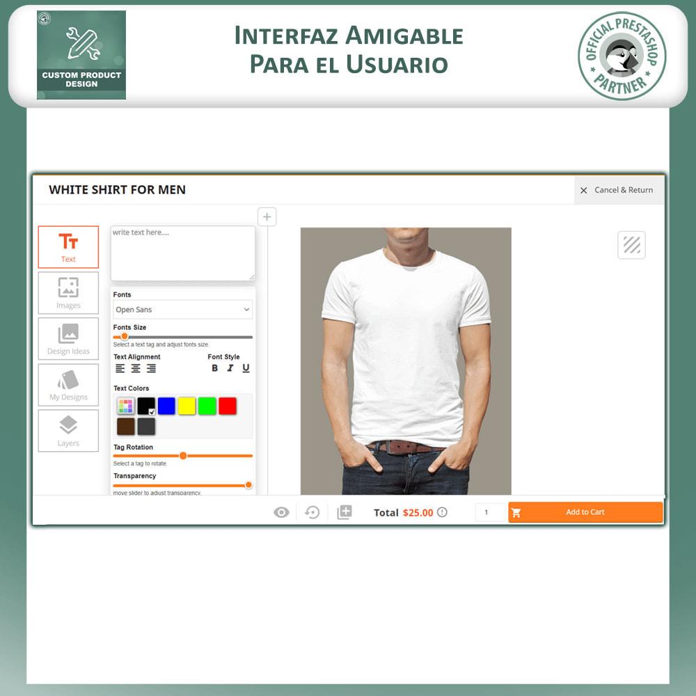 module - Combinaciones y Personalización de productos - Diseñador de productos personalizados - 3