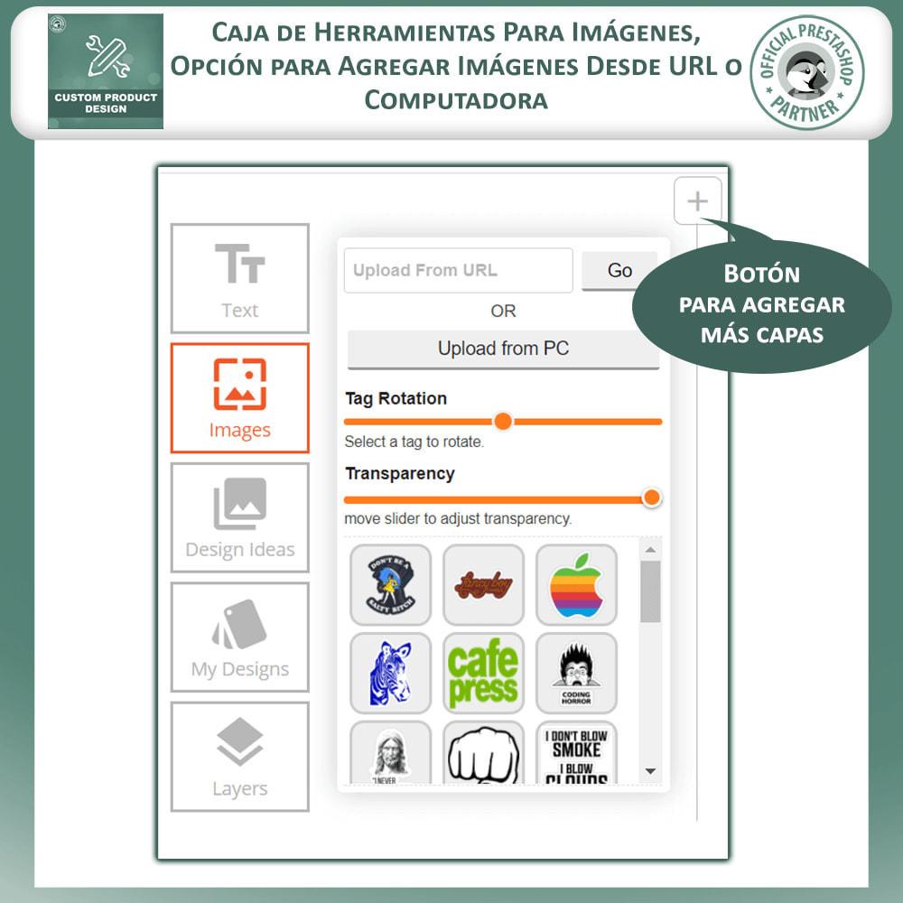 module - Combinaciones y Personalización de productos - Diseñador de productos personalizados - 5