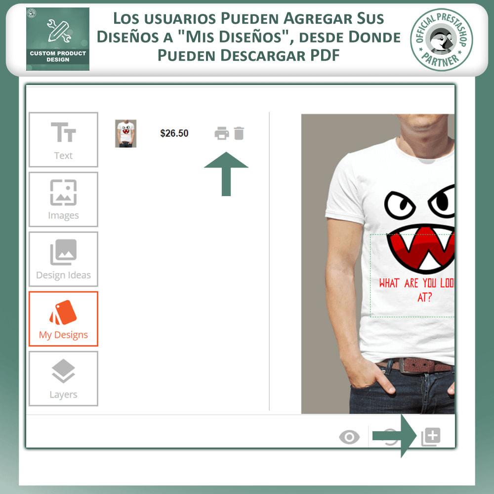 module - Combinaciones y Personalización de productos - Diseñador de productos personalizados - 6